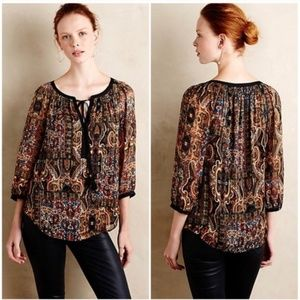 Anthropologie Meadow Rue Marya Peasant Blouse